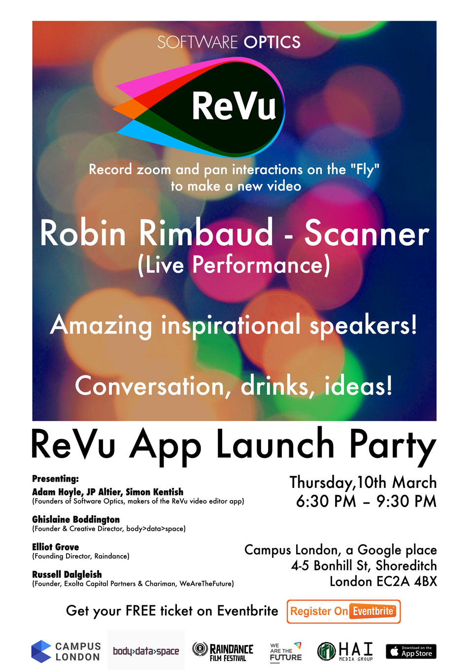 Event: ReVu App Launch Party, 10 March