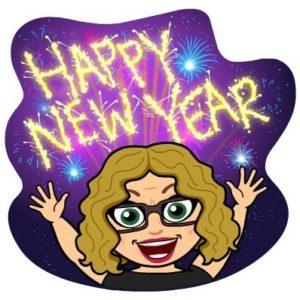 HNY 2017 from Lisa Devaney's Bitmoji!